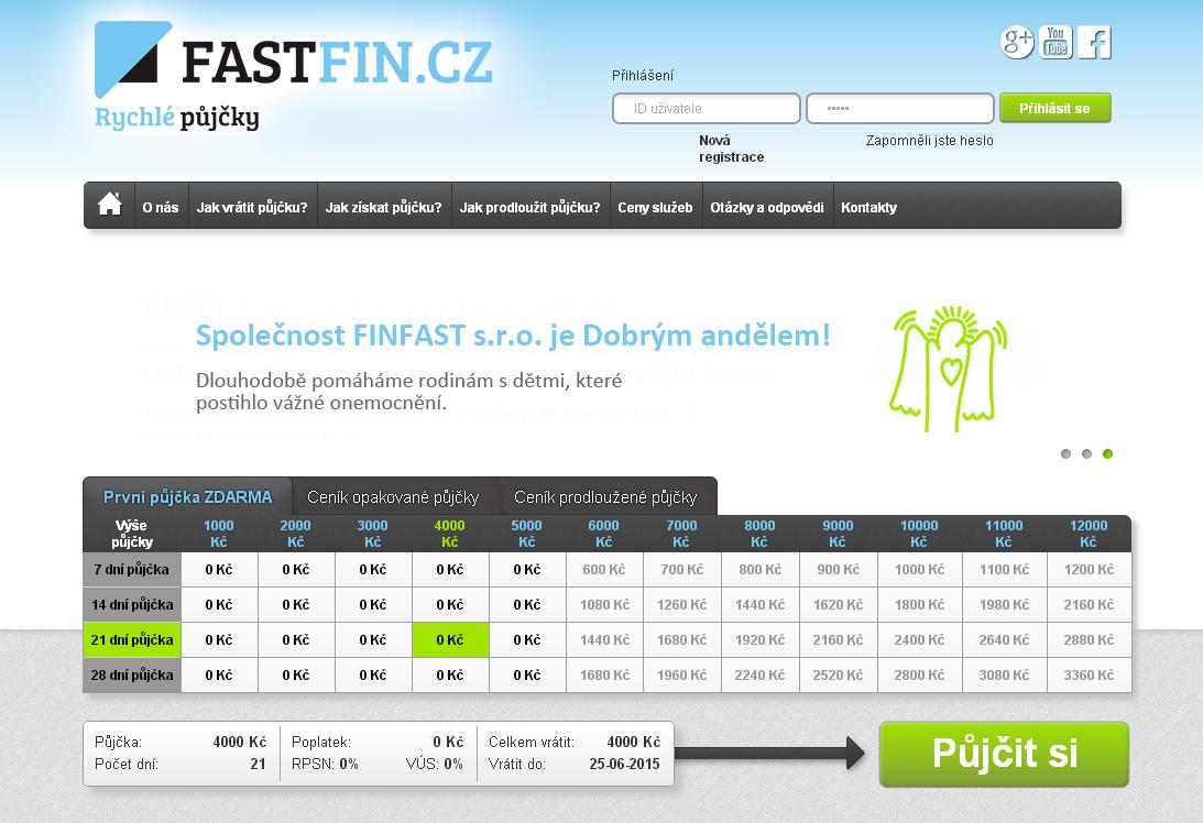 Fastfin.cz rychla pujcka do vyplaty